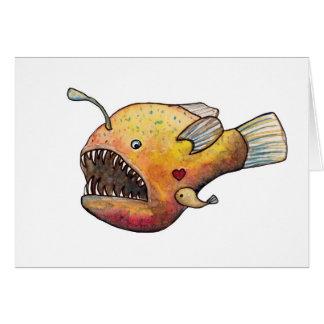 Anglerfisch-Liebe Grußkarte