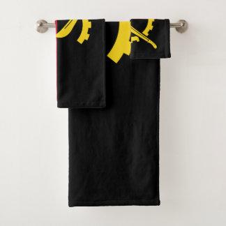 Angola-Flagge Badhandtuch Set