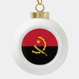 Angola-Flagge Keramik Kugel-Ornament