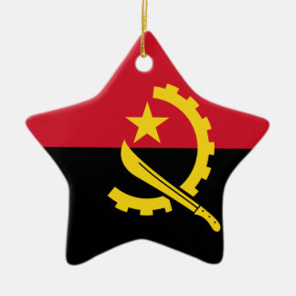Angola-Flagge Keramik Ornament