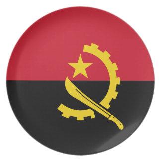 Angola-Flagge Teller