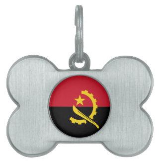 Angola-Flagge Tiermarke