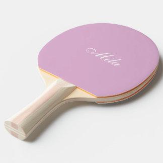 Angora-rosa Gewohnheit Tischtennis Schläger