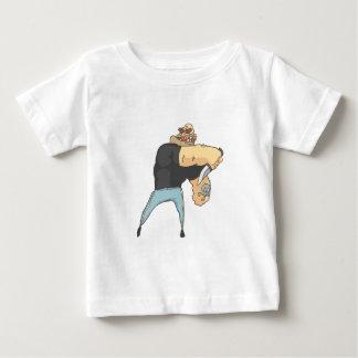 Angreifende gefährlicher Verbrecher umrissene Baby T-shirt