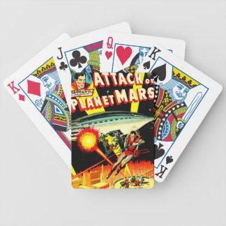 Angriff auf Planeten-Mars Bicycle Spielkarten