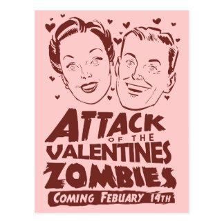 Angriff der Valentinsgruß-Zombies Postkarte