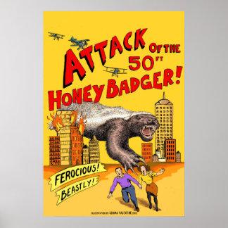 Angriff des 50ft Honig-Dachses! Plakat