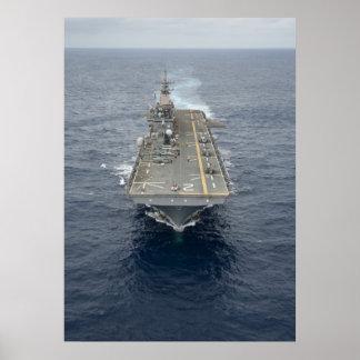 Angriff mit Amphibienfahrzeugs-Schiff USS Essex (L Posterdruck