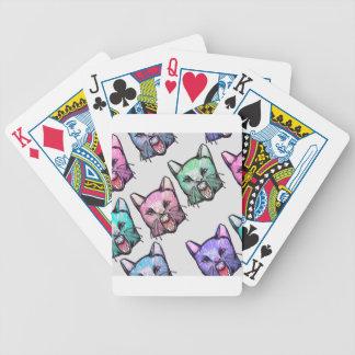 angry, cat, kawaii, cute, Tier, mooon, Alien, sp, Bicycle Spielkarten