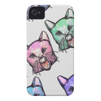 angry, cat, kawaii, cute, Tier, mooon, Alien, sp, iPhone 4 Cover