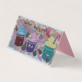 Angry Cupcake Grußkarte
