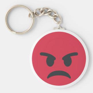 Angry Emoji Standard Runder Schlüsselanhänger