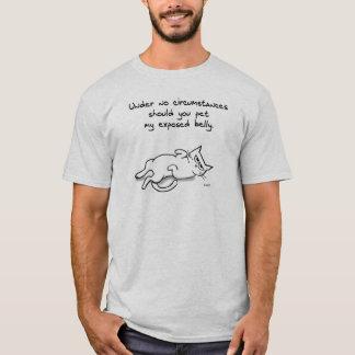 AngryCatBellyRub_Shaded T-Shirt