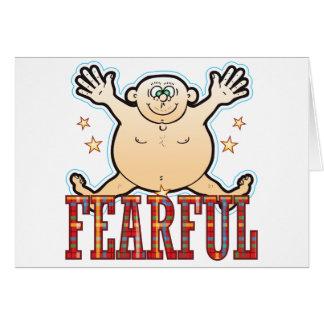 Ängstlicher fetter Mann Karte