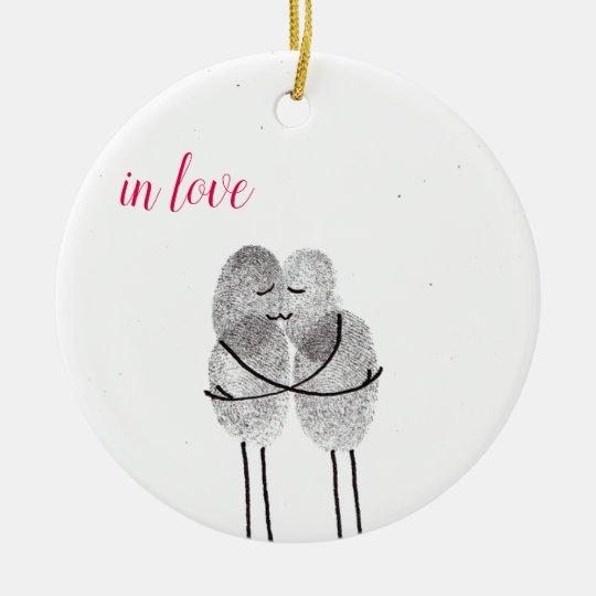 """Anhänger """"in love"""" keramik ornament"""
