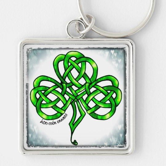 Anhänger, Kleeblatt, keltischer Knoten, Viel Glück Schlüsselanhänger