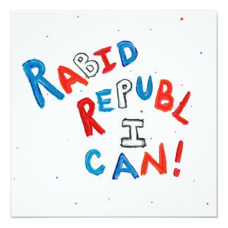 Anhängerspaß-Wortkunst des republikanischen Quadratische 13,3 Cm Einladungskarte