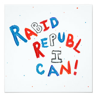 Anhängerspaß-Wortkunst des republikanischen Wähler Ankündigung