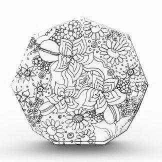 Anhäufung der Blumen Acryl Auszeichnung