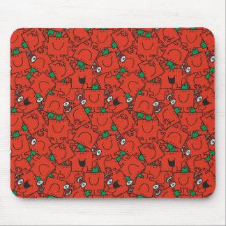 Anhebende Gewichte Herr-Strong | rot u. grünes Mousepads