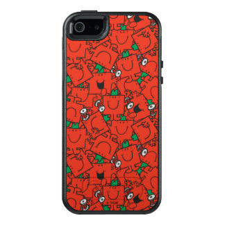 Anhebende Gewichte Herr-Strong | rot u. grünes OtterBox iPhone 5/5s/SE Hülle
