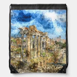 Anicent Ruinen in Rom Italien Sportbeutel