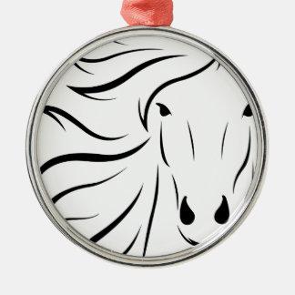 animal-1300243 rundes silberfarbenes ornament