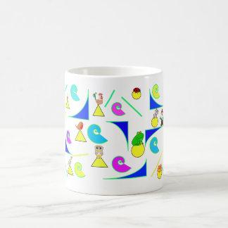 Animals and geometrical tiles tasse