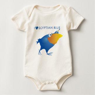 AnimArArA Herz-ägyptisches Blau Baby Strampler