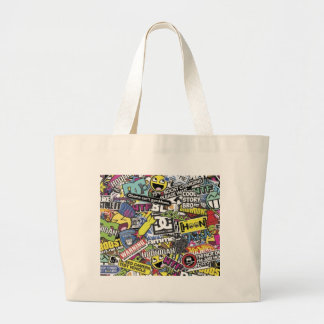 Animated Collage Bag Jumbo Stoffbeutel