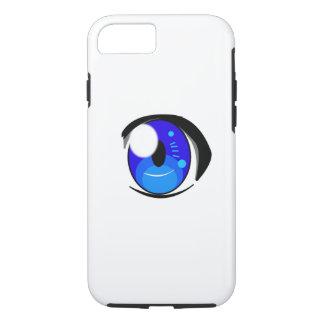 Anime-Augen-Telefon-Kasten---- Blaues Auge iPhone 8/7 Hülle