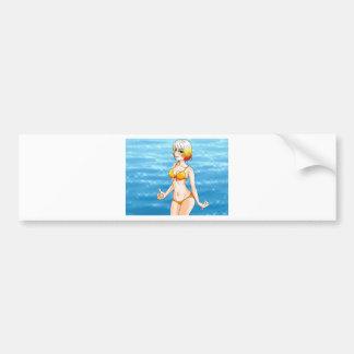 Anime-Bikini-Mädchen Autoaufkleber