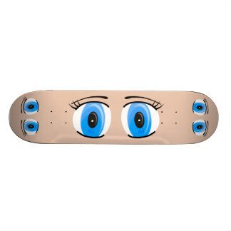 Anime-blaue Augen-Skateboard 19,7 Cm Skateboard Deck