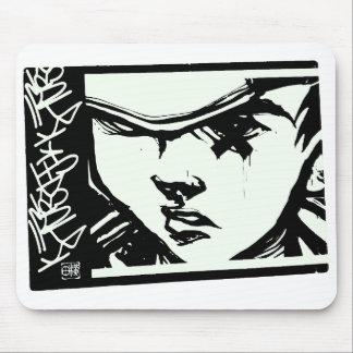 Anime-Graffiti-Mädchen Mousepad