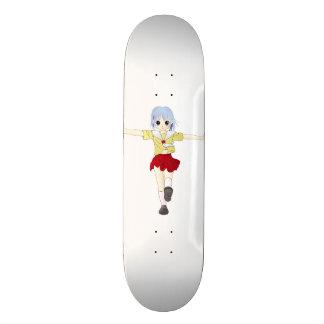 Anime-Mädchen im roten Rock-Skateboard 18,1 Cm Old School Skateboard Deck