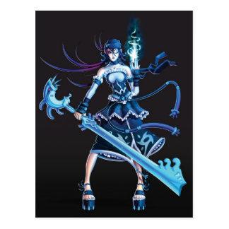 Anime-Piraten-Mädchen Postkarte