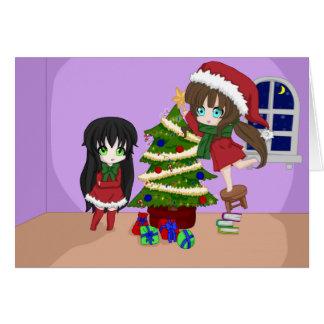 Anime-Weihnachtskarten Karte