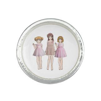 Animemädchen Ring