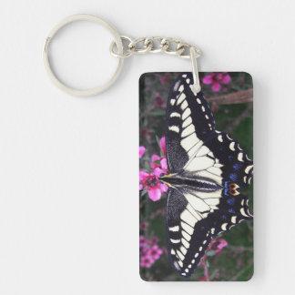 Anis-Frack-Schmetterlings-Rechteck Keychain Schlüsselanhänger
