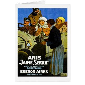 Anis Jaime Serra Buenos Aires - Vintage Anzeige Karte