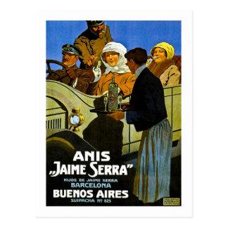 Anis Jaime Serra Buenos Aires - Vintage Anzeige Postkarte
