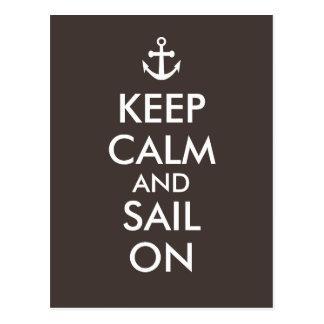Anker behalten Ruhe und Segel auf Seegewohnheit Postkarte