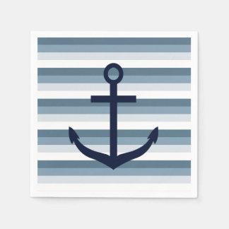 Anker-blaue Streifen Papierserviette