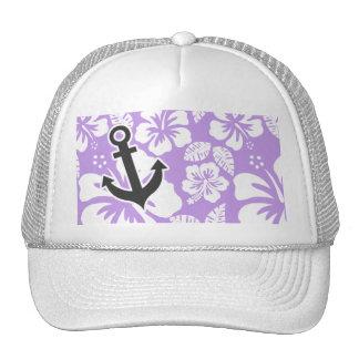 Anker; Heller Lavendel-tropischer Hibiskus Baseball Cap