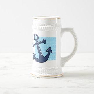 Anker in den Wellen Bierglas