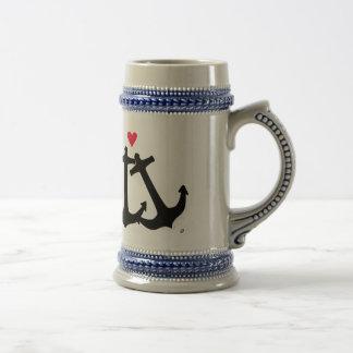 Anker in der Liebe Bierglas