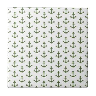 Anker kopieren SeeForest Green-Weiß Keramikfliese