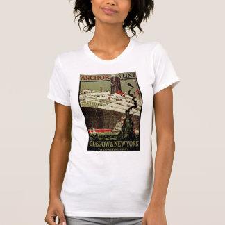 Anker-Linie ~ Glasgow-Neues York T-Shirts
