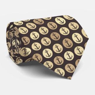 Anker-Muster-Hintergrund Krawatte