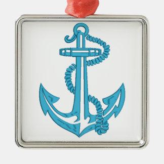 Anker - Nachahmung der Stickerei Silbernes Ornament